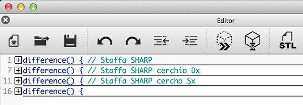 OpenSCAD Update compact code
