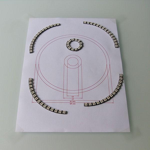 Neopixel Ring Watch componenti