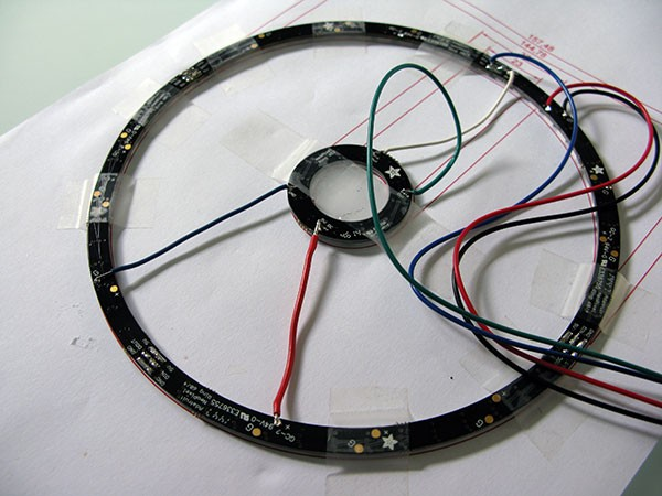 Neopixel Ring Watch connessioni II