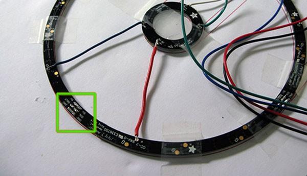 Neopixel Ring Watch saldature