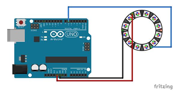 Neopixel Ring Watch schema