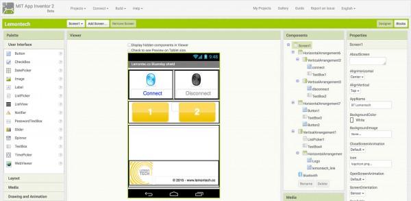 Lemontech App Bluerelay ai2 screen