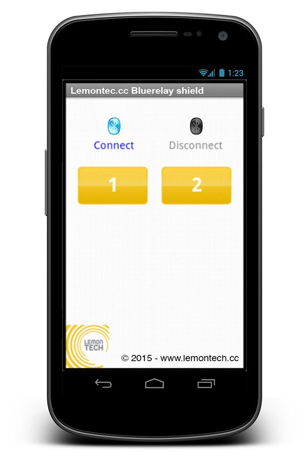 Lemontech App Bluerelay shield