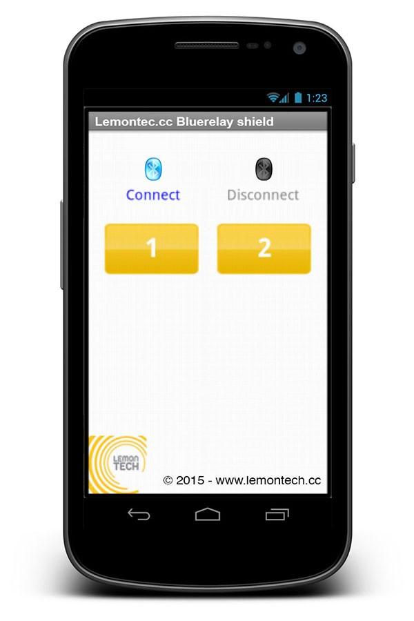 Lemontech App Bluerelay shield