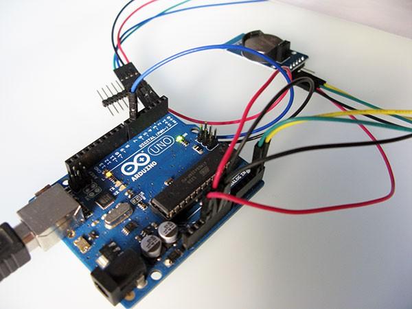 Neopixel Ring Watch DS3231 elettronica