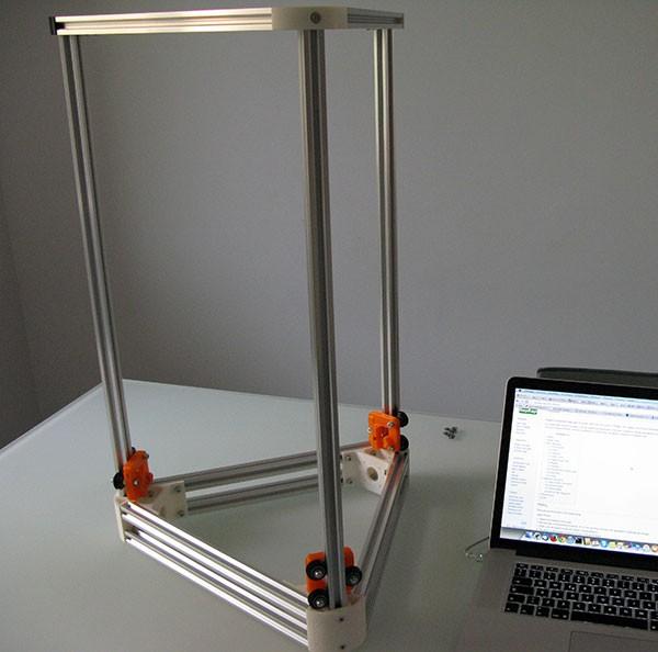 Struttura Delta 3d printer K250 montata
