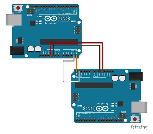 Comunicazione I2C arduino to arduino diagram