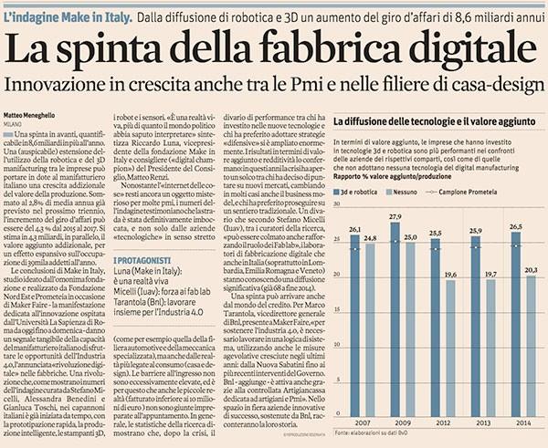 Il sole 24ore innovazione in Italia
