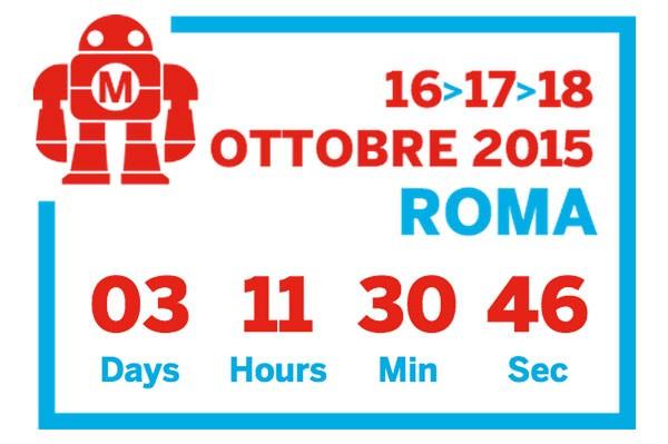 Maker Faire 2015 Roma European Edition countdown