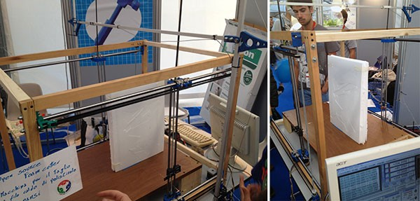 Maker Faire Rome 2015 FabLab Genova Foam Cutter