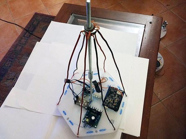 Albero Robot vista pannello superiore