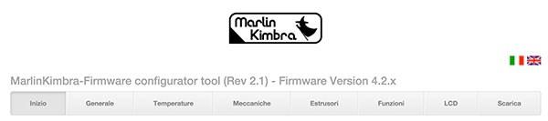 MarlinKimbra Configurator