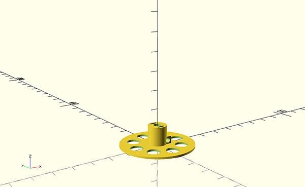 wires dispenser 3d print internal bottom
