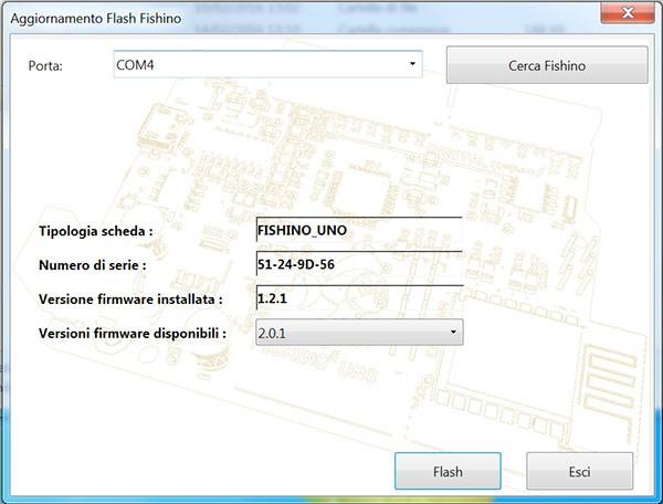 Fishino WiFi Flash Update FishinoFlasher