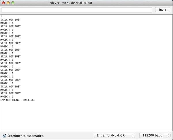 Fishino WiFi Flash Update scan before