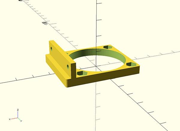 Kossel fan RAMPS mount bottom