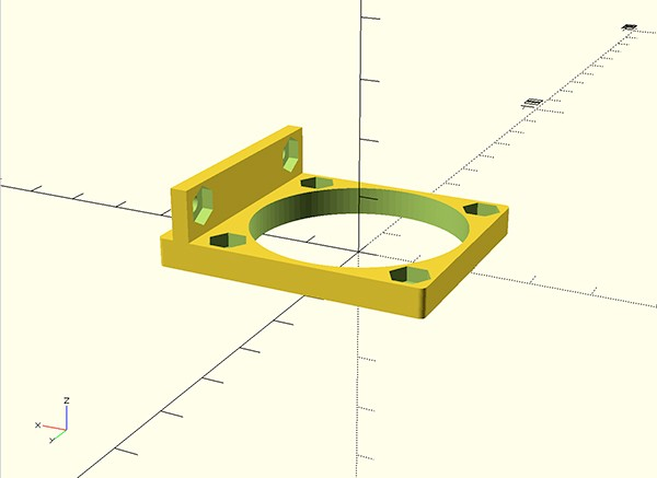 Kossel fan RAMPS mount oscad