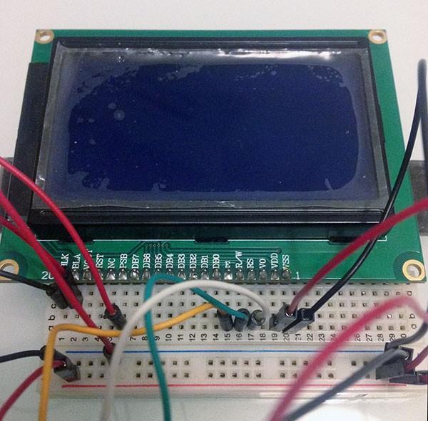 ST7920 Serial u8glib connection display