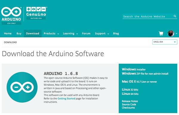 Arduino IDE 1.6.8