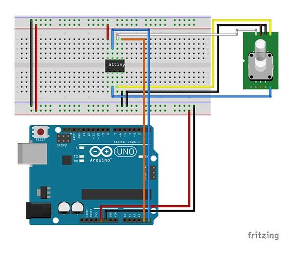 Attiny85 Encoder schema