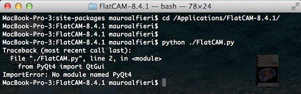 FlatCam first start error PyQt4