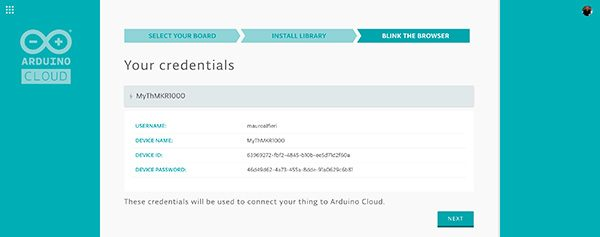 arduino cloud credential