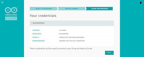 arduino cloud credential