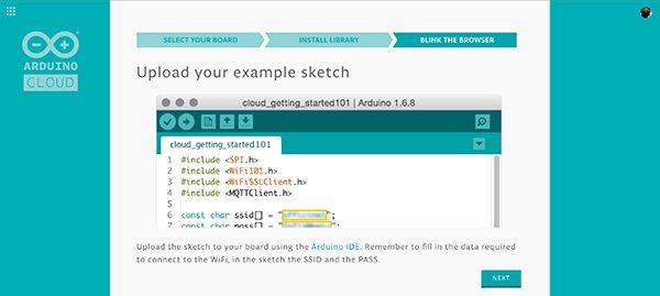 arduino cloud customize sketch