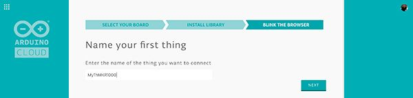 arduino cloud select name