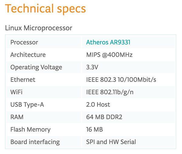 Yun Shield technical spec