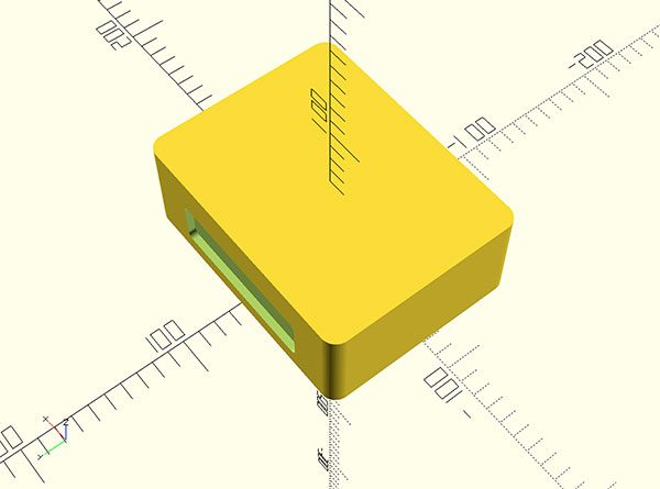 box hdd sata openscad top