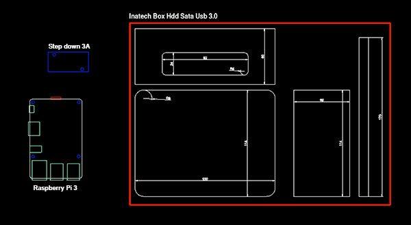 nas raspberry pi box dimensions componeneti