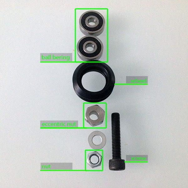 gantry plate delta 3d print v2 umounted wheel