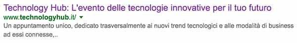 descrizione technology hub