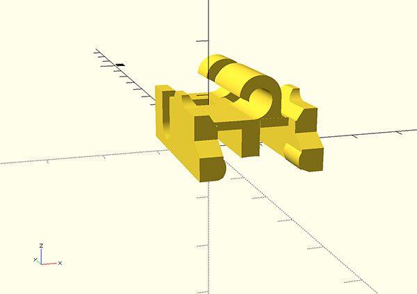 sostegno lavastoviglie 3d printed front