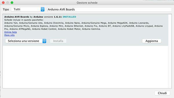 Arduino IDE 1.6.10 update AVR Board