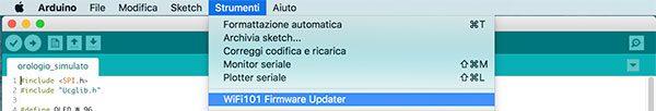 Arduino IDE 1.6.11 Wifi101 FirmwareUpdater