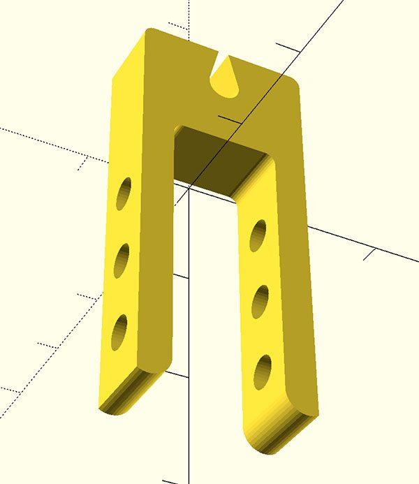 Ferma cavi Prusa i3 piccolo STL