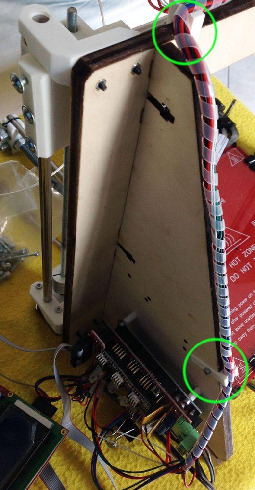 Ferma cavi Prusa i3 sistemazione cavi