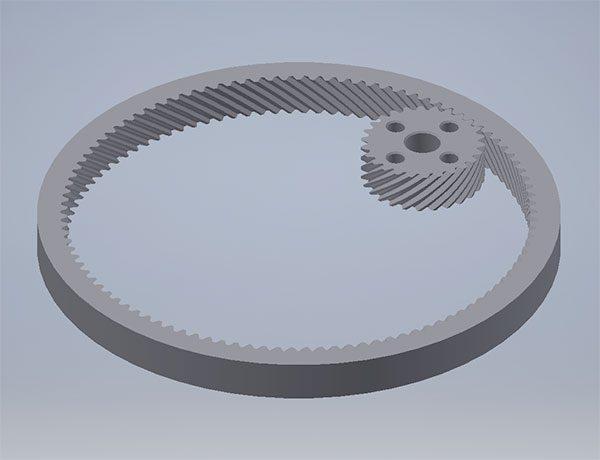 ingranaggio stampa 3d inventor