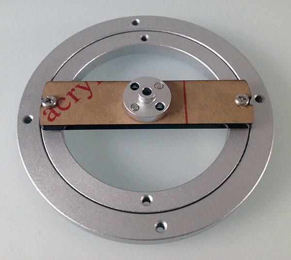 montaggio base rotante asse
