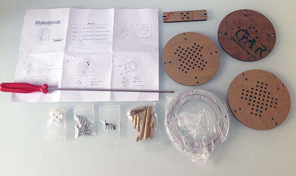 montaggio base rotante componenti