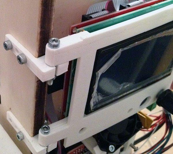 prusa i3 glcd front panel particolare montaggio