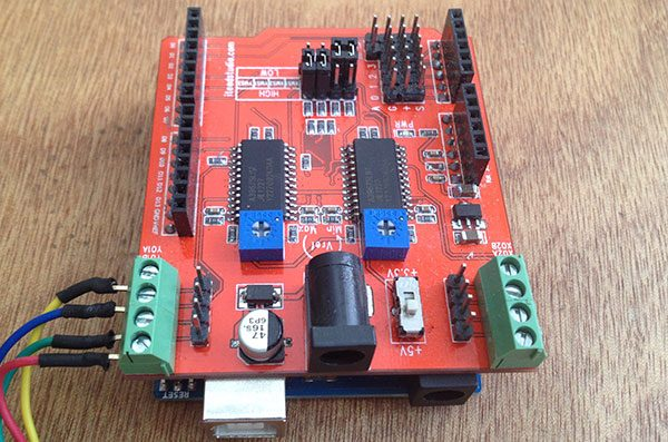 base rotante stepper shield