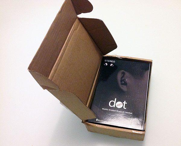 dot smallest bluetooth headset unpack