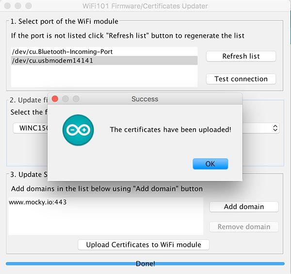 mkr1000 ssl certificates mockyio success