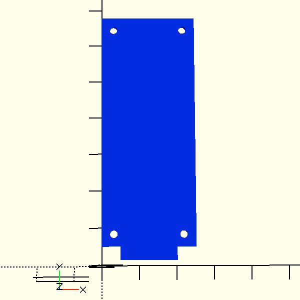 mkr1000 sizes dimensions openscad