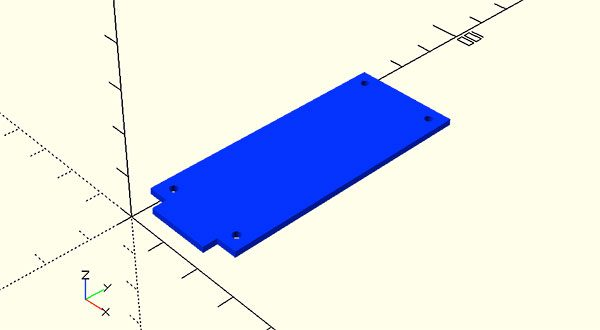mkr1000 sizes dimensions openscad side