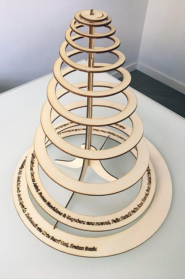arbol de navida de spiral thingverse Feliz Natal complete