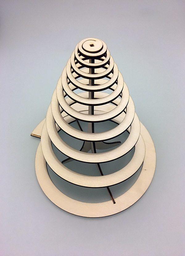 albero di natale spirale thingverse complete